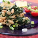 Swiss Chard with Cannellini Beans.
