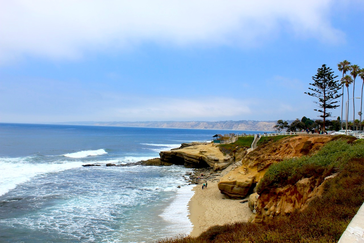 The beauty of Pacific Ocean at La Jolla.