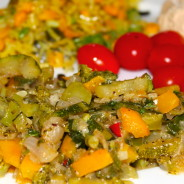 Zucchini, Broccoli & Sweet Pepper Vegetable Medley.