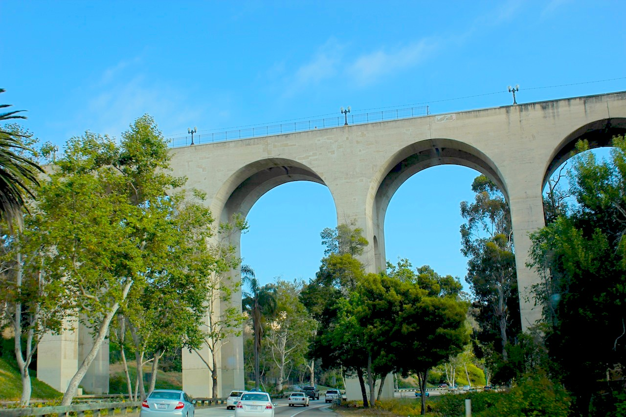 The Cabrillo Bridge.