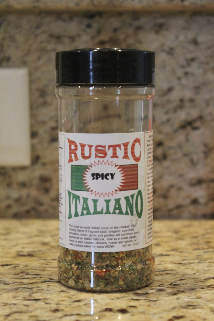 Add spices 'Rustic Italiano' to vegetable medley.