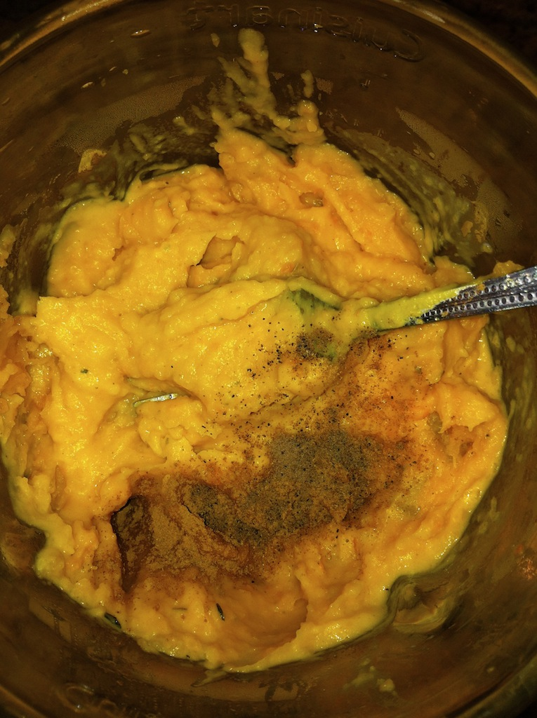 Adding more spices to taste and cream.