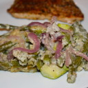 Light and Delicious Green Bean Casserole with Zucchini & Garlic