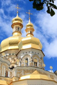 Detail of one of Kiev Pechersk Lavra churches
