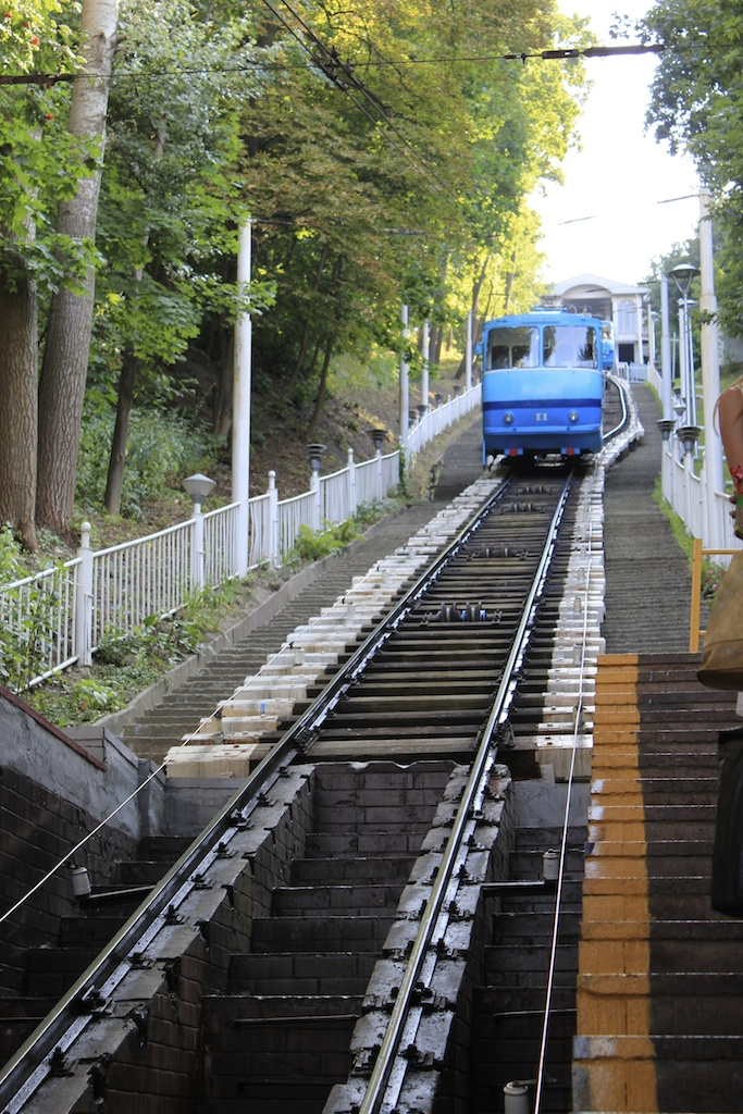 Funicular - connecting upper and lower part of the city near Podil (Podol).