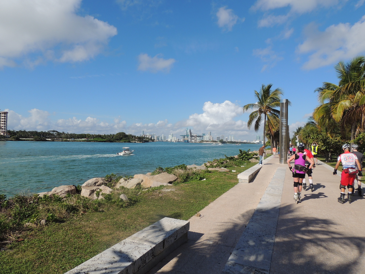 Miami in February - beautiful views for skaters to enjoy!