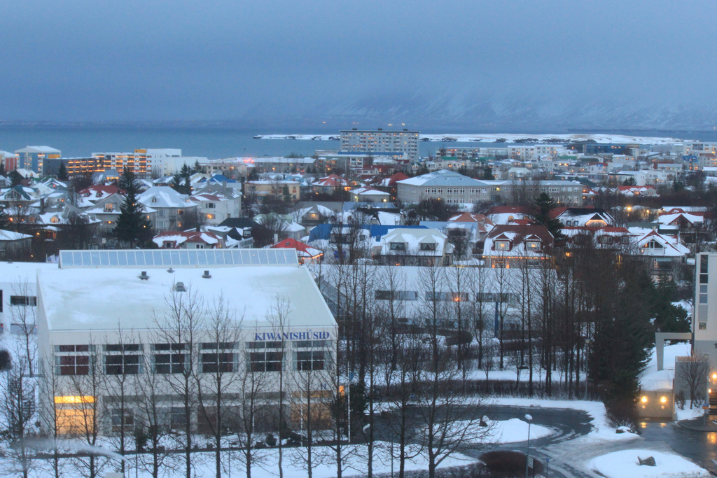 View from Hilton Nordica. When the snow melted, we could see a more colorful Reykjavik.