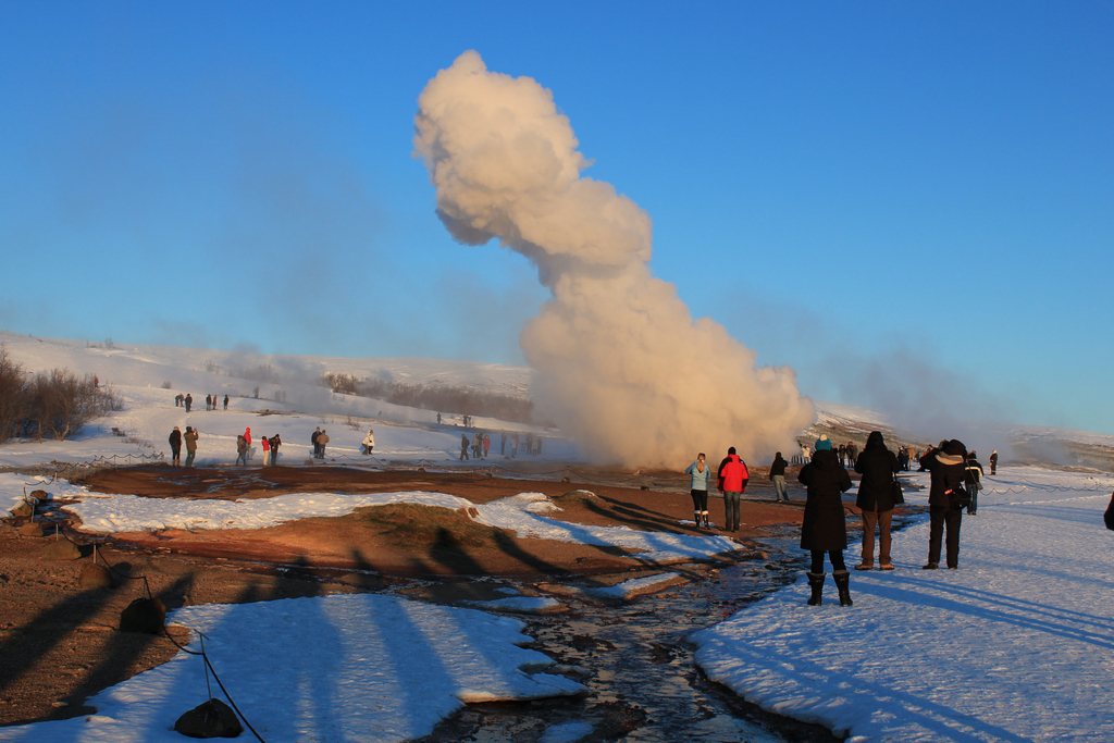 Strokkur eruption.