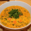 Sweet Potato, Corn and Kale Chowder. Rich & Healthy.