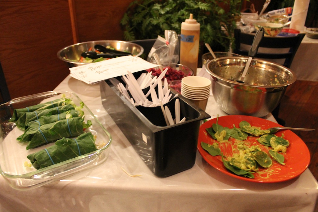 Some of raw food dishes at the meetup. There were plenty, but they were all eaten fast:-)